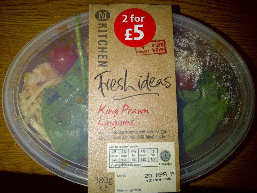 Morrisons Fresh Ideas King Prawn Linguine