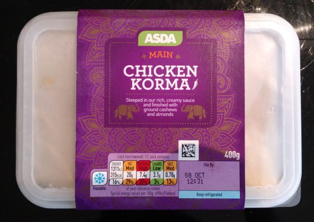 Asda Chicken Korma Main Review Student Munch